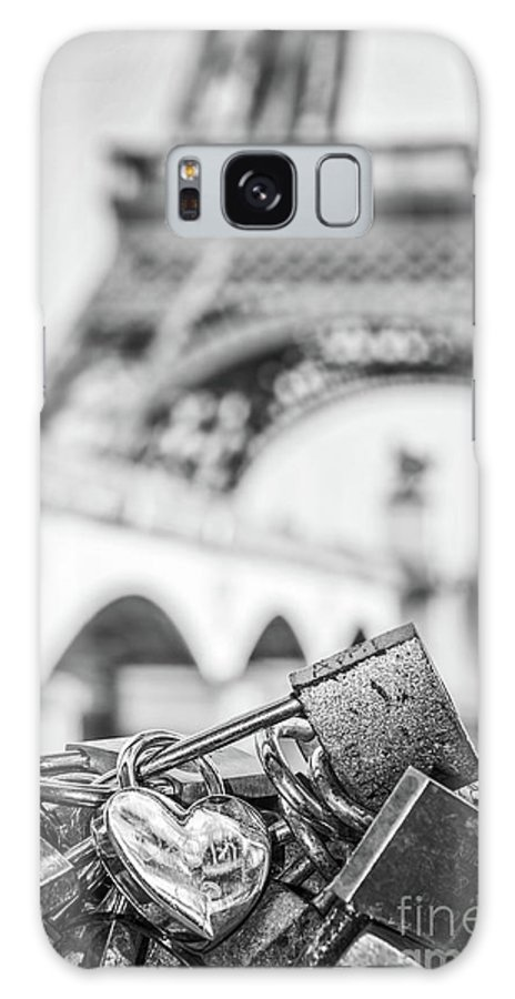 Paris Galaxy S8 Case featuring the photograph Love Locks by Delphimages Photo Creations