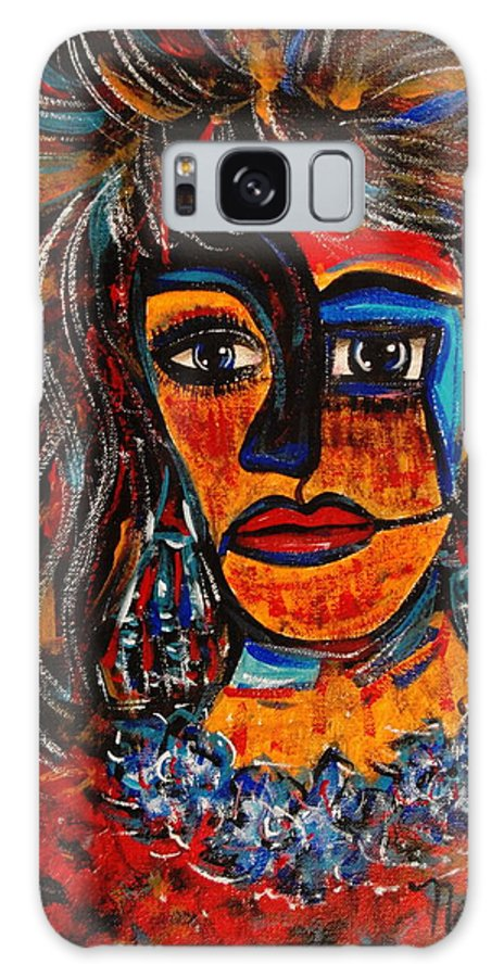 Expressionsim Galaxy S8 Case featuring the painting Love Me Or Leave Me by Natalie Holland