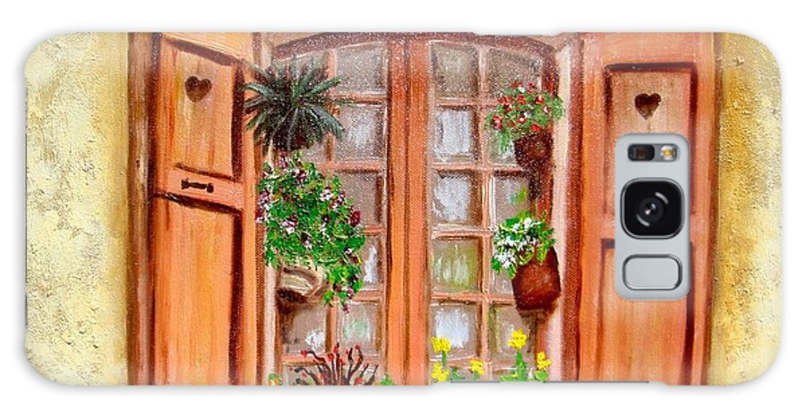 Windows Galaxy S8 Case featuring the painting Love Nest by Laurie Morgan