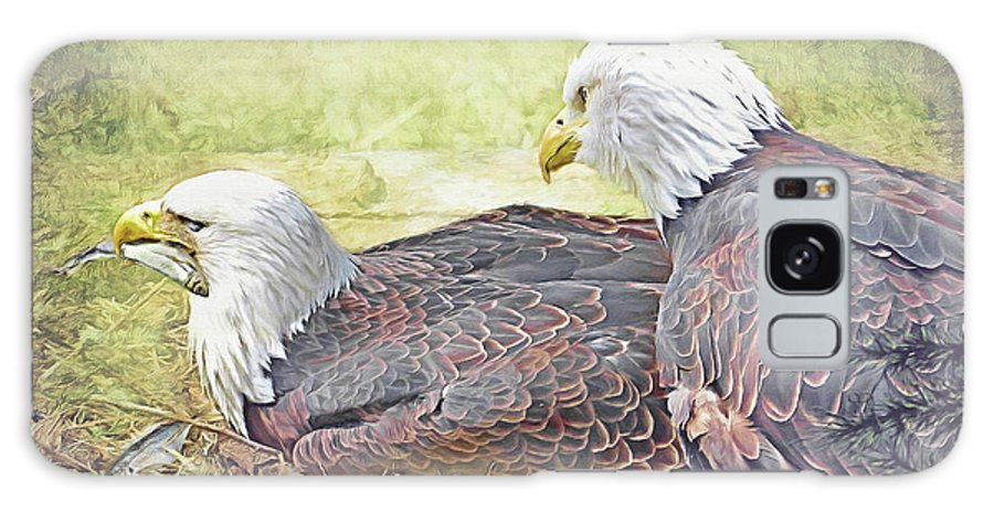 Eagles Galaxy S8 Case featuring the digital art Love Story 6 by Ulanawa Foote