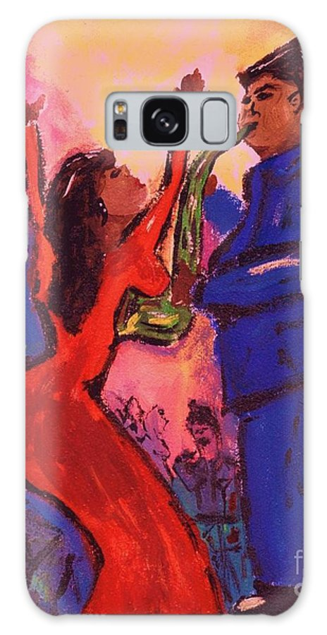 Jazz Galaxy Case featuring the painting Love That Sax Man by Sidra Myers