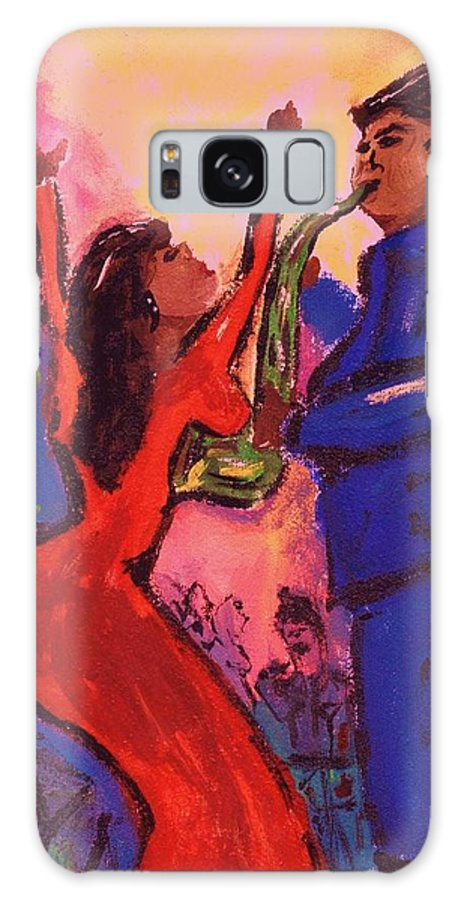 Jazz Galaxy S8 Case featuring the painting Love That Sax Man by Sidra Myers