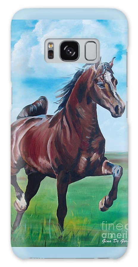 Horse Galaxy S8 Case featuring the painting Lovely by Gina De Gorna