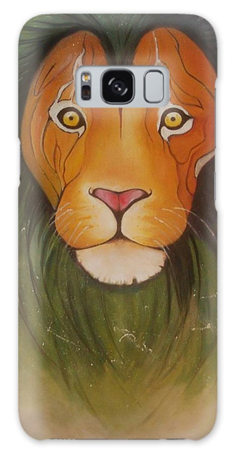 #lion #oilpainting #animal #colorful Galaxy S8 Case featuring the painting Lovelylion by Anne Sue