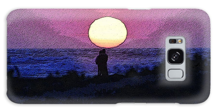 Art Galaxy S8 Case featuring the painting Lovers Sunset by David Lee Thompson