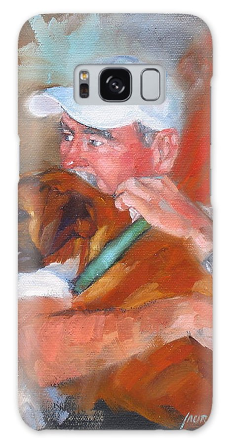 Oil Painting Galaxy S8 Case featuring the painting Loving Roxie by Laura Lee Zanghetti