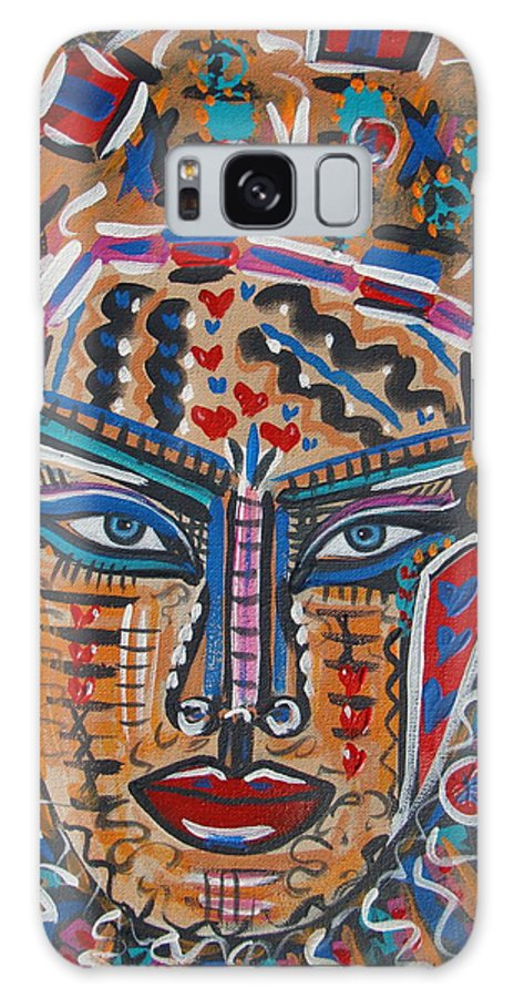 Abstract Galaxy S8 Case featuring the painting Loviola by Natalie Holland