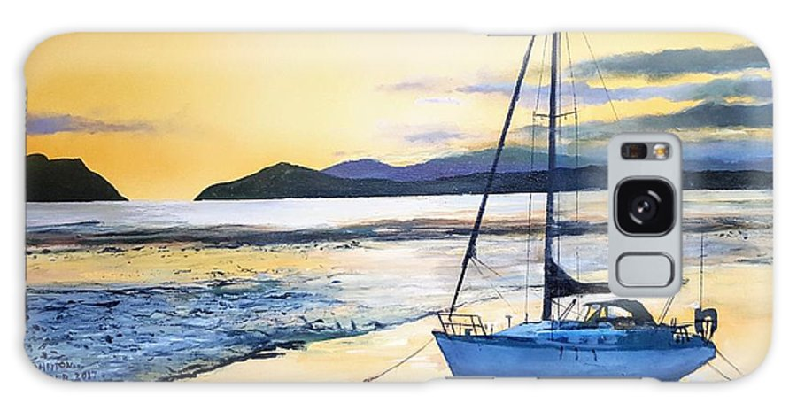 Yacht Galaxy S8 Case featuring the painting Low Tide by Tim Johnson