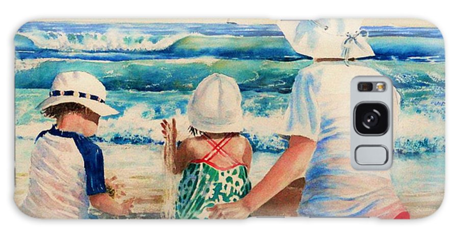 Beach Galaxy Case featuring the painting Low Tide by Tom Harris