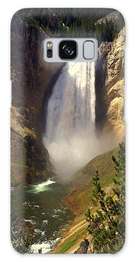 Waterfall Galaxy S8 Case featuring the photograph Lower Falls by Marty Koch