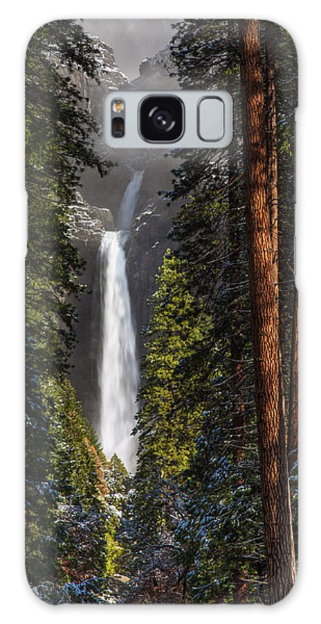 Yosemite Galaxy S8 Case featuring the photograph Lower Yosemite Falls by Anthony Bonafede