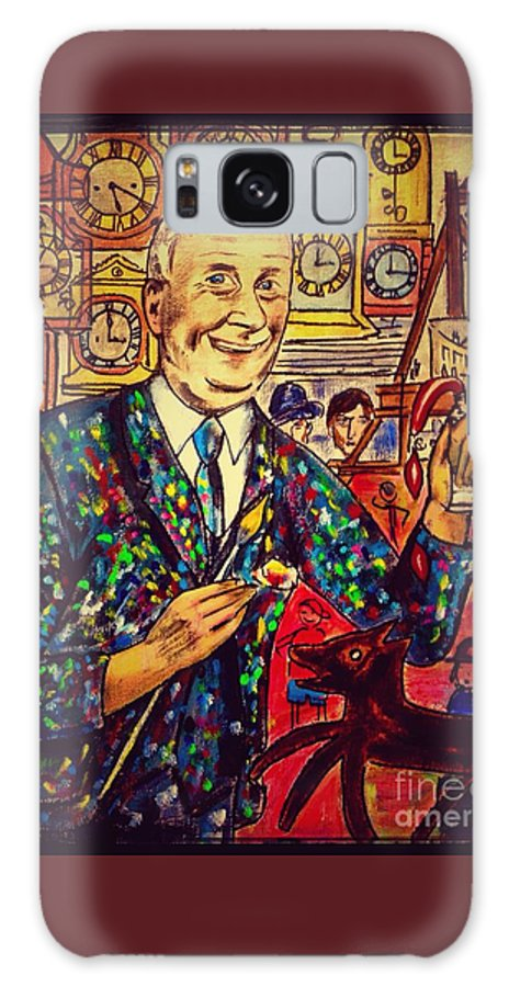 L S Lowry Galaxy S8 Case featuring the painting Lowry's Painting Suit Vintage by Joan-Violet Stretch
