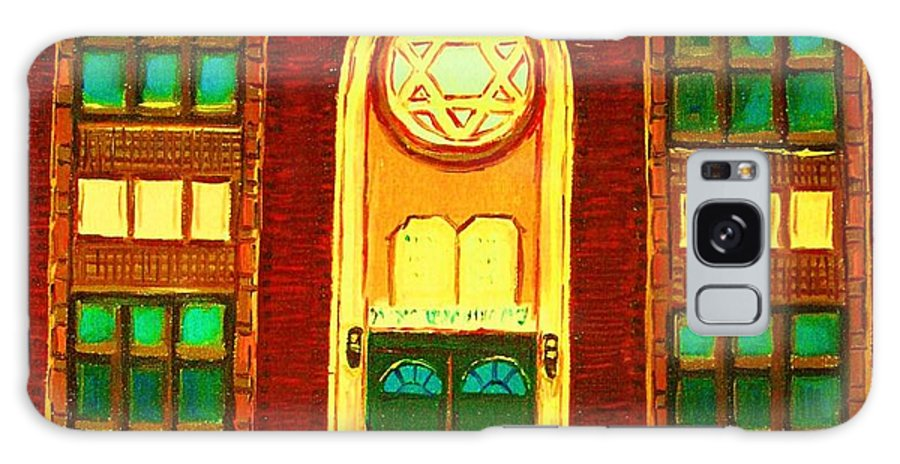 Judaica Galaxy S8 Case featuring the painting Lubavitch Synagogue by Carole Spandau