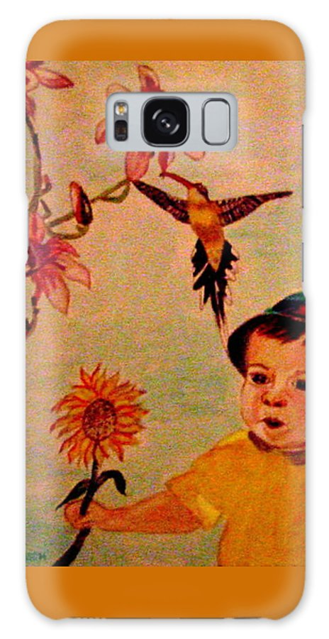 France Galaxy S8 Case featuring the painting Lucas Le Petit Tournesol by Rusty Gladdish