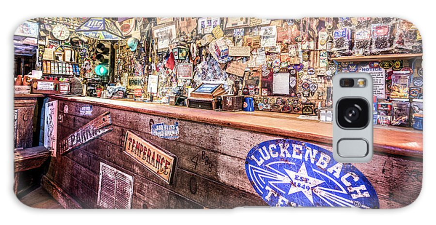 Bar Galaxy S8 Case featuring the photograph Luckenbach Bar by Andy Crawford