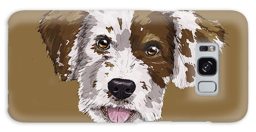 Dog Galaxy S8 Case featuring the digital art Lucky Brown Mixed Breed by Rupert Schneider