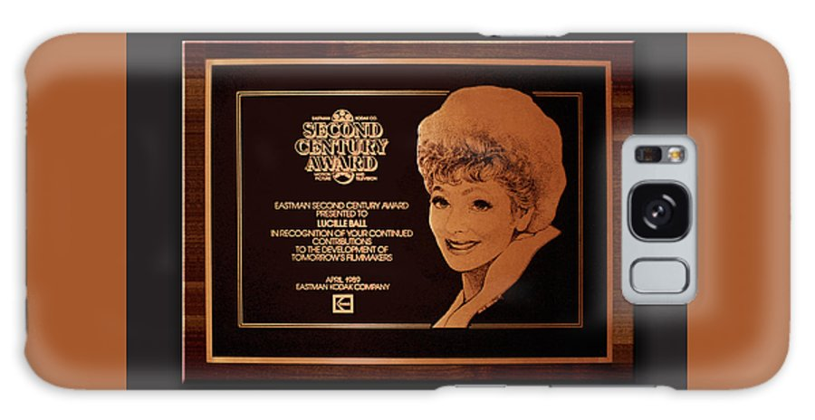 Lucille Ball Galaxy S8 Case featuring the drawing Lucy Sca Plaque by Gene Sherman