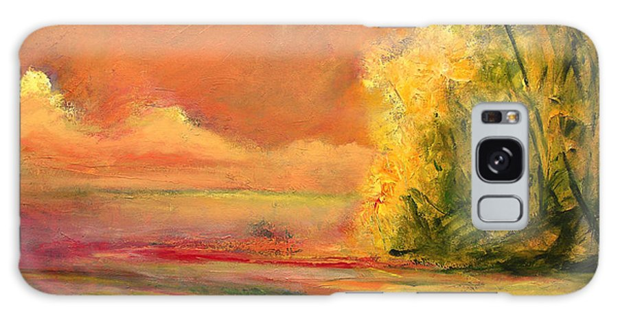Large Canvas Reproductions Galaxy S8 Case featuring the painting Luminous Sunset 2-16-06 Julianne Felton by Julianne Felton