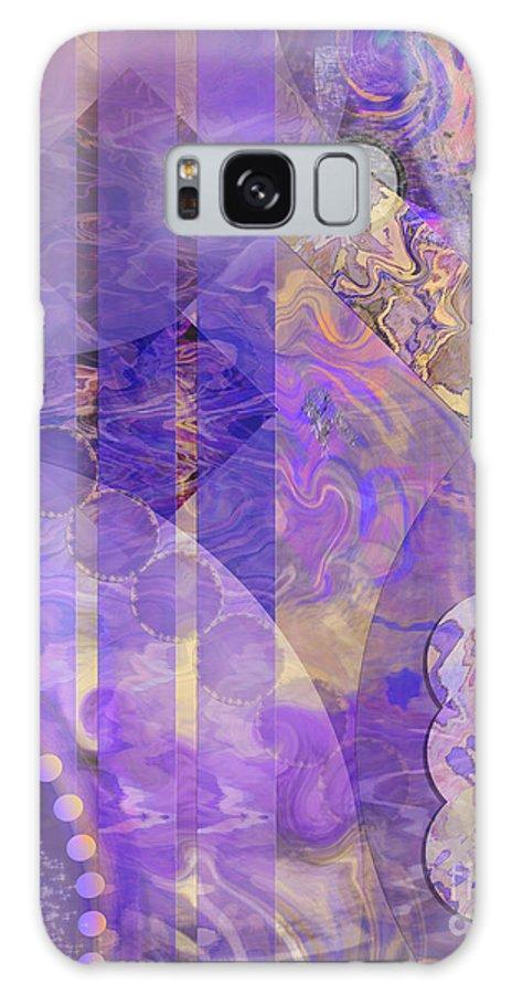 Lunar Impressions 2 Galaxy Case featuring the digital art Lunar Impressions 2 by John Beck