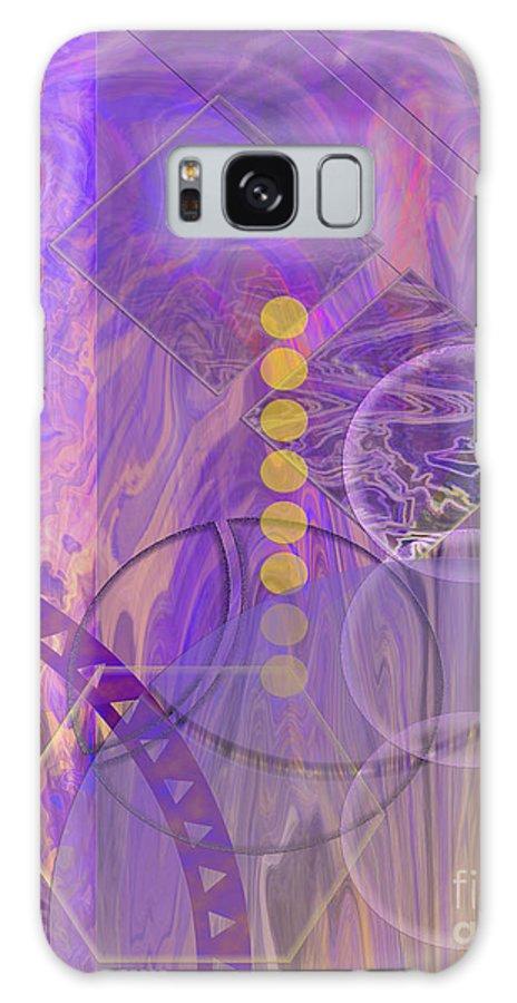 Lunar Impressions 3 Galaxy Case featuring the digital art Lunar Impressions 3 by John Beck