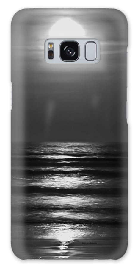 Moon Galaxy S8 Case featuring the digital art Lunar Tides by DigiArt Diaries by Vicky B Fuller