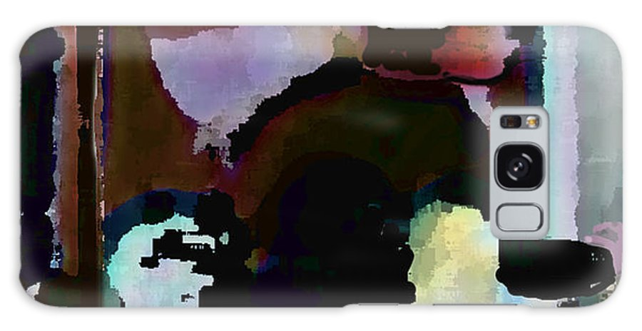 Abstract Expressionism Galaxy S8 Case featuring the painting Lunch counter by Steve Karol