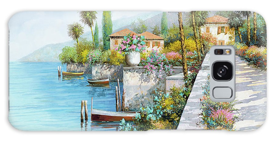Lake Galaxy Case featuring the painting Il Lungo Lago by Guido Borelli