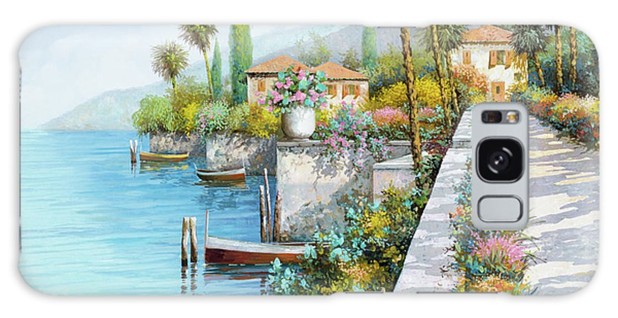 Lake Galaxy S8 Case featuring the painting Lungolago by Guido Borelli