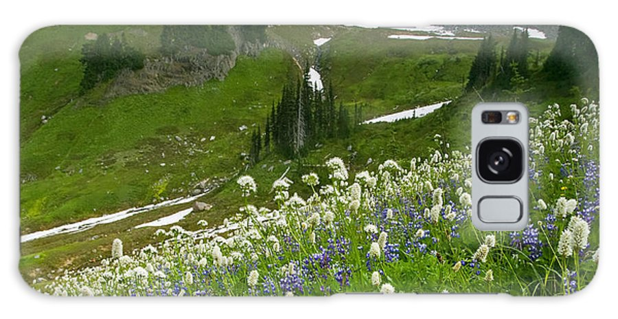 Rainier Galaxy Case featuring the photograph Lupine Storm by Mike Dawson