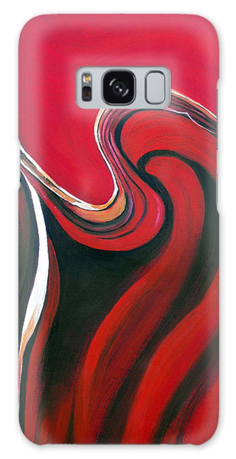 Abstract Galaxy Case featuring the painting Luscious Red by Ruth Palmer