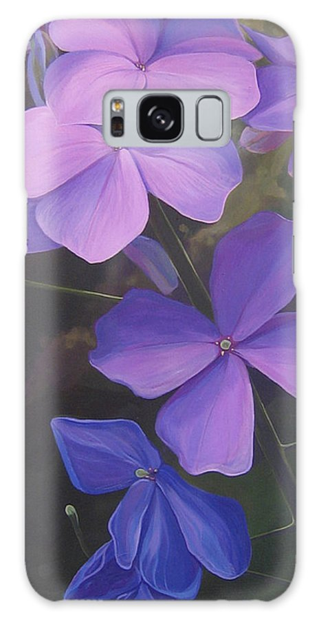 Closeup Of Colorado Wildflower Near Durango Galaxy S8 Case featuring the painting Lush Life by Hunter Jay