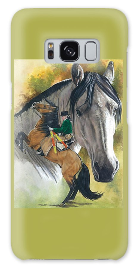 Hoof Stock Galaxy S8 Case featuring the mixed media Lusitano by Barbara Keith