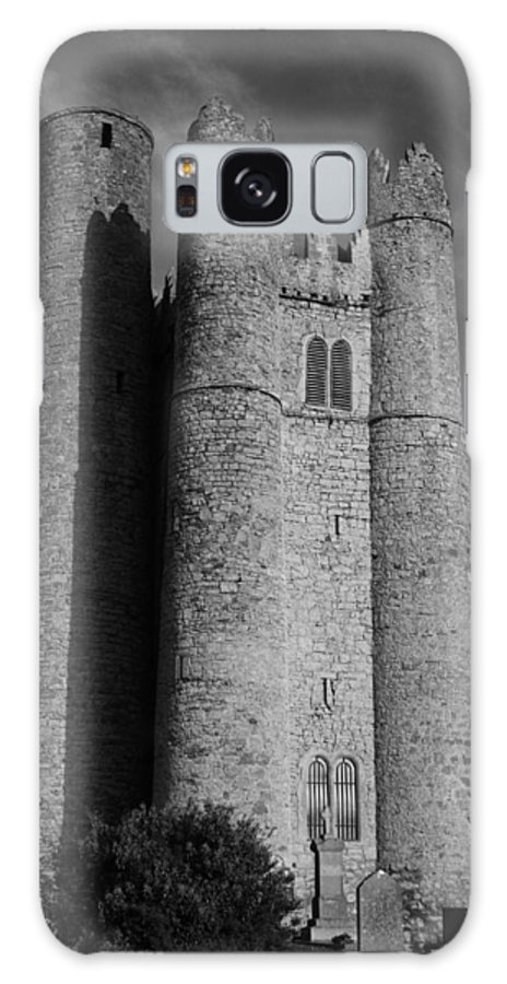 Historic Landscapes Galaxy S8 Case featuring the photograph Lusk Round Tower B And W by Martina Fagan