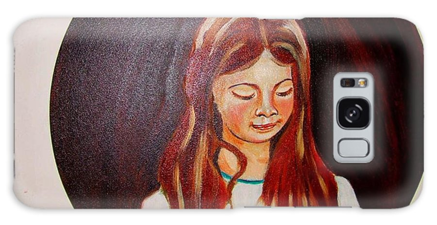 Portraits Galaxy Case featuring the painting Lydia by Rusty Gladdish