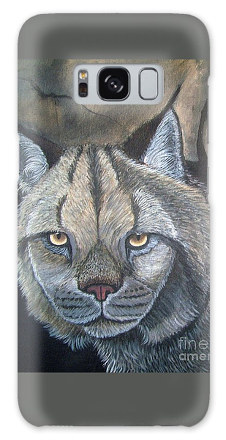 Lynx Galaxy S8 Case featuring the painting Lynx by Nick Gustafson