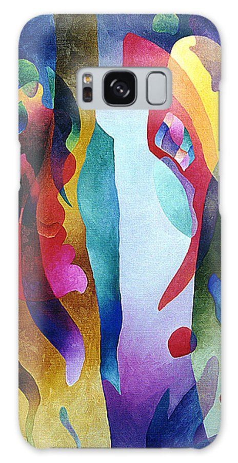 Abstract Galaxy S8 Case featuring the painting Lyrical Grouping by Sally Trace