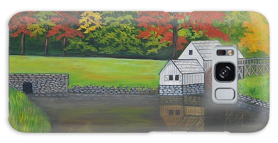 Landscape Galaxy Case featuring the painting Mabry Grist Mill by Ruth Housley