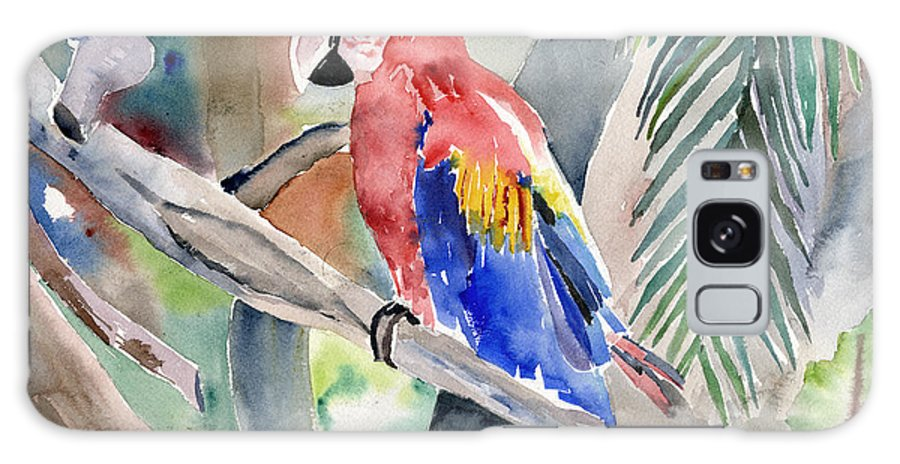 Macaw Galaxy Case featuring the painting Macaw by Arline Wagner
