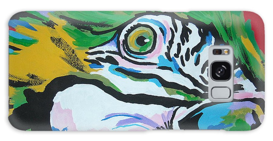 Macaw Galaxy Case featuring the painting Macaw by Caroline Davis