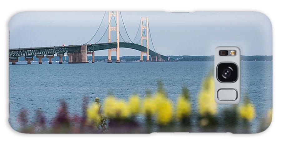 Mackinac Galaxy S8 Case featuring the photograph Mackinac Bridge 2 by Wesley Farnsworth