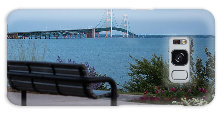 Mackinac Galaxy S8 Case featuring the photograph Mackinac Bridge 4 by Wesley Farnsworth