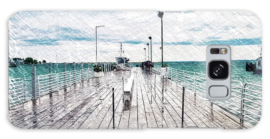 Mackinac Galaxy S8 Case featuring the photograph Mackinac Island Michigan Shuttle Pier Pa 02 by Thomas Woolworth