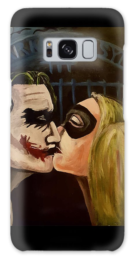 Joker Galaxy S8 Case featuring the painting Mad Love by Doloris Boutwell