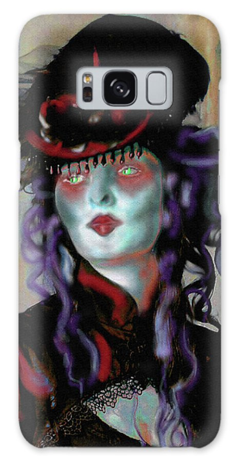 Countess Galaxy S8 Case featuring the digital art Madame La Comtesse by Mimulux patricia No