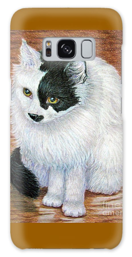 Fuqua - Artwork Galaxy S8 Case featuring the drawing Maddie In Waiting by Beverly Fuqua