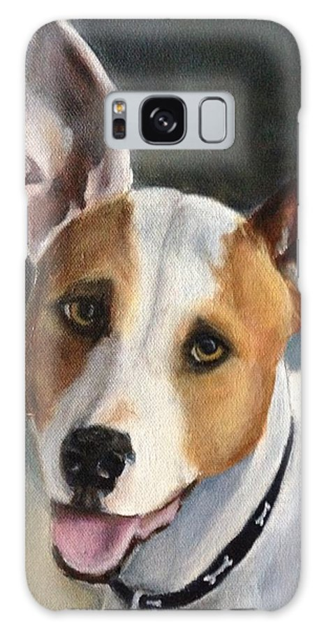 Maddox Galaxy S8 Case featuring the painting Terrier by FayBecca