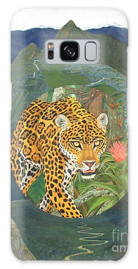 Jaguar Galaxy S8 Case featuring the painting Made In America by Juan Enrique Marquez
