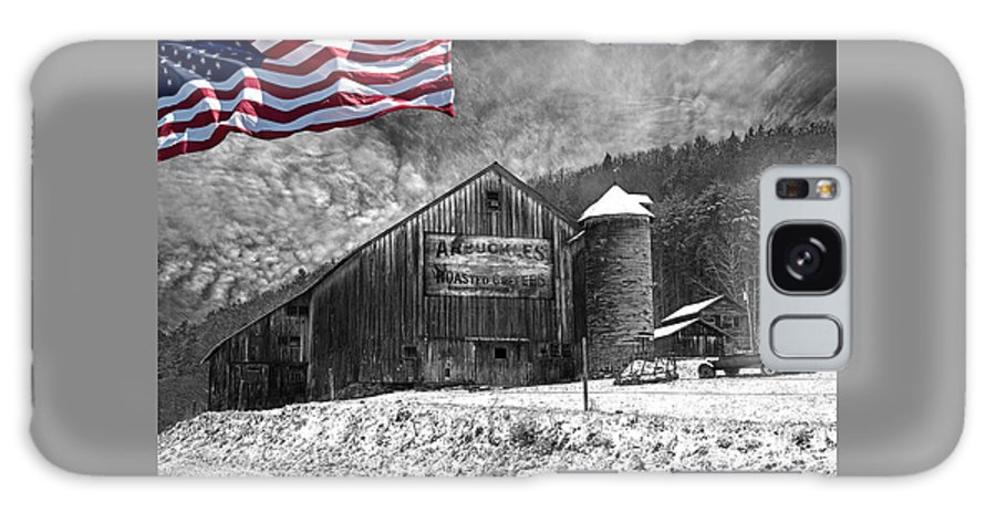 Black And White Galaxy S8 Case featuring the photograph Made In America Red White And Blue by John Stephens