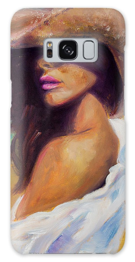 Girl Galaxy S8 Case featuring the painting Made In The Shade by Jason Reinhardt