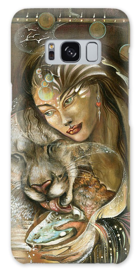 Wildlife Galaxy Case featuring the painting Madonna by Blaze Warrender